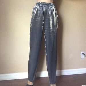 Vintage high waisted silver pants 4/6